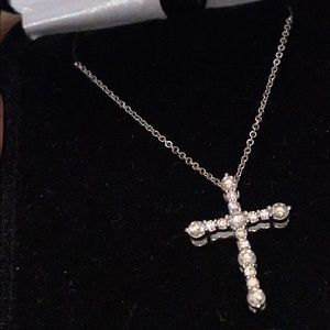 10K white gold cross necklace - Kay Jewelers